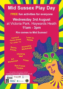 Playdays carnival poster 2016 HAYWARDS HEATH + Affinity Sutton reduced